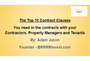 top 10 contract clauses brrrr invest